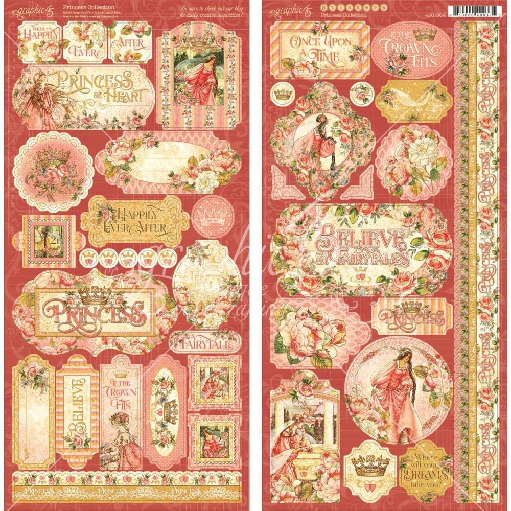 Princess Card-stock Stickers 12x12