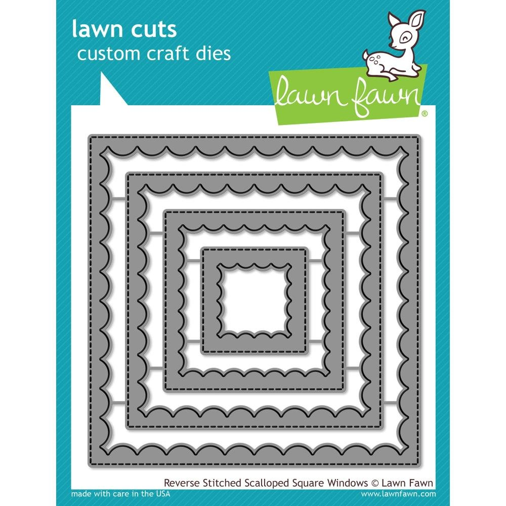Lawn Fawn Reserve Stitched Scalloped Square Window Dies