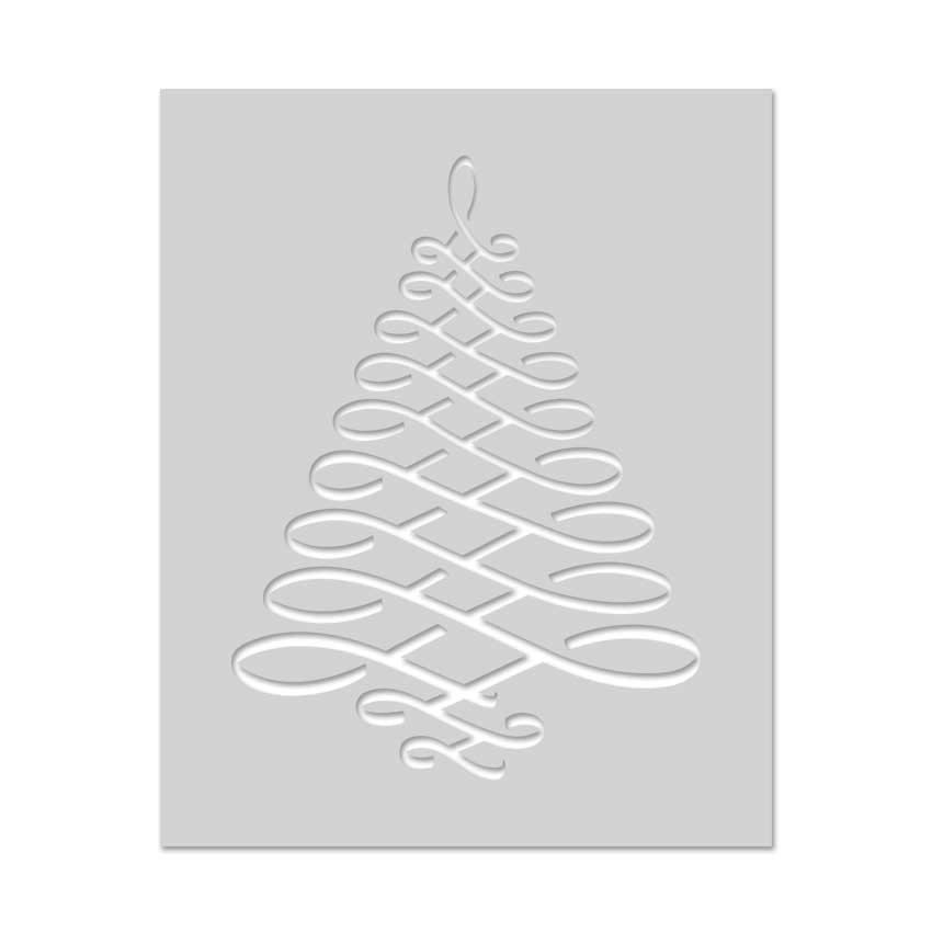 Calligraphic Tree Stencil