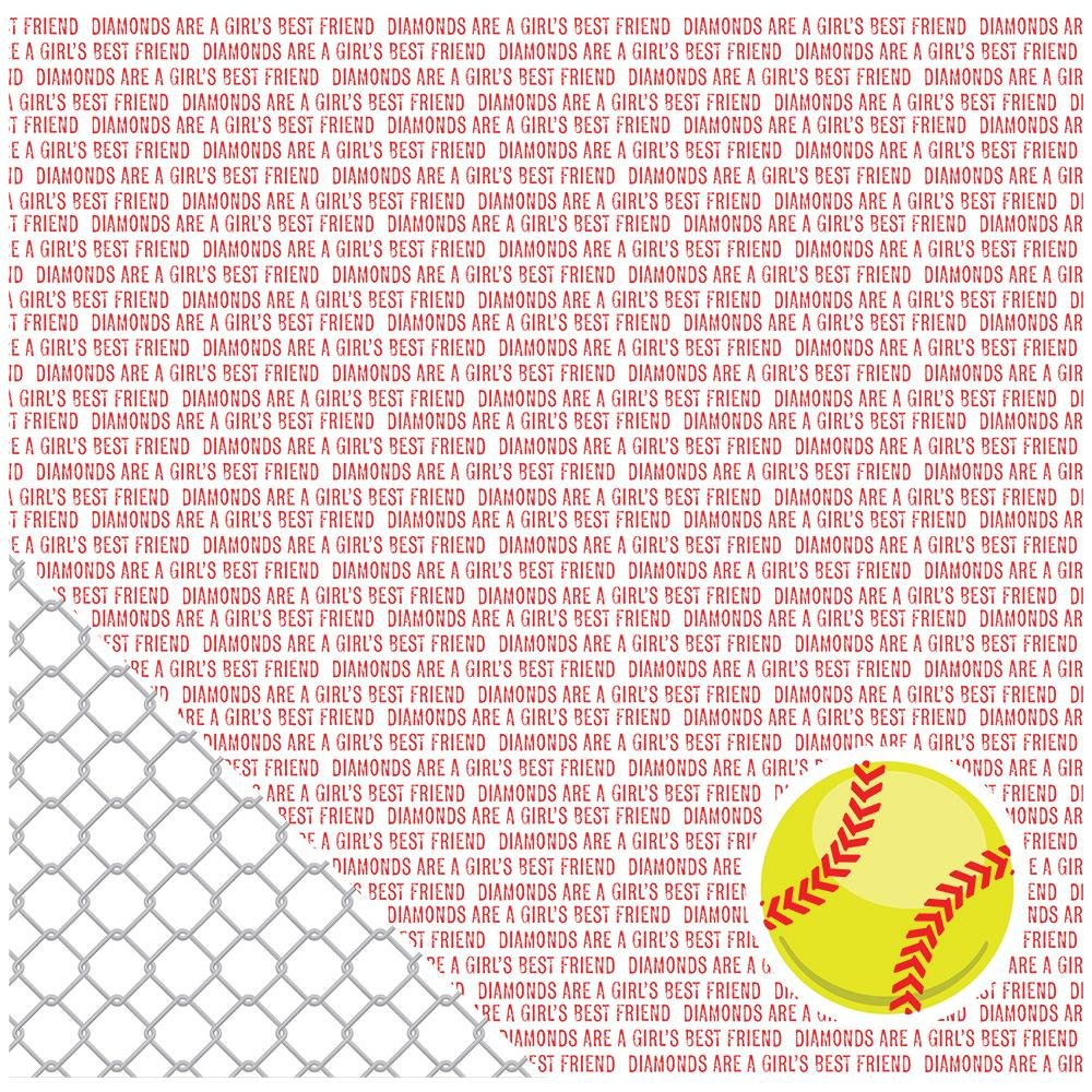 American Crafts Color of Memories Softball Sentiments