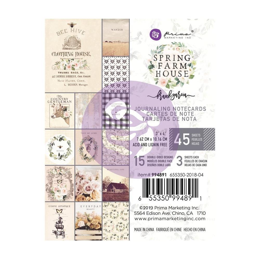 Prima Spring Farmhouse 3 x 4 Journaling Cards