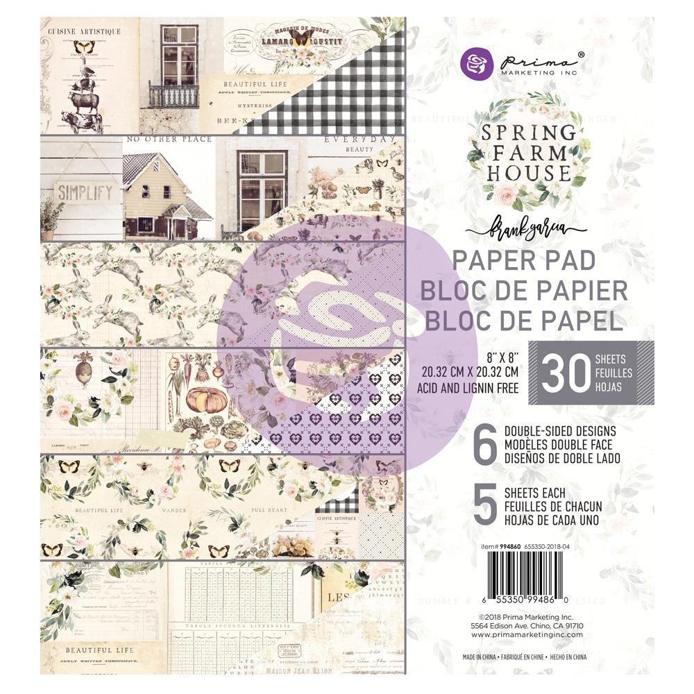 Prima Spring Farmhouse 8 x 8 Paper Pad