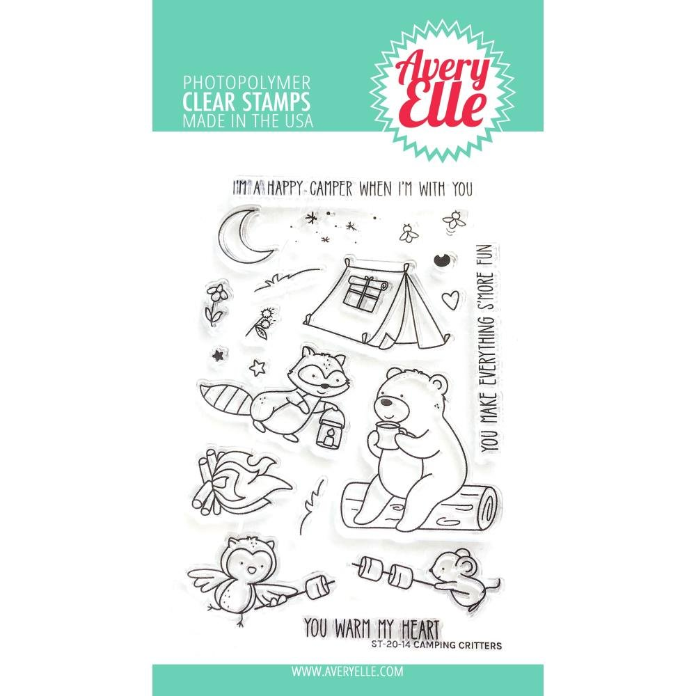 Avery Elle Camping Critter Stamp Set