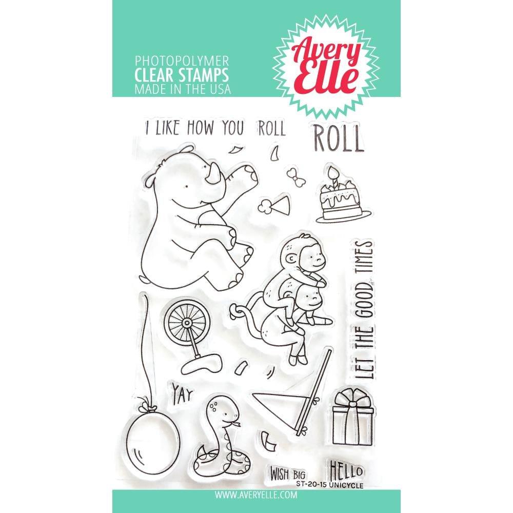 Avery Elle Unicycle Stamp Set