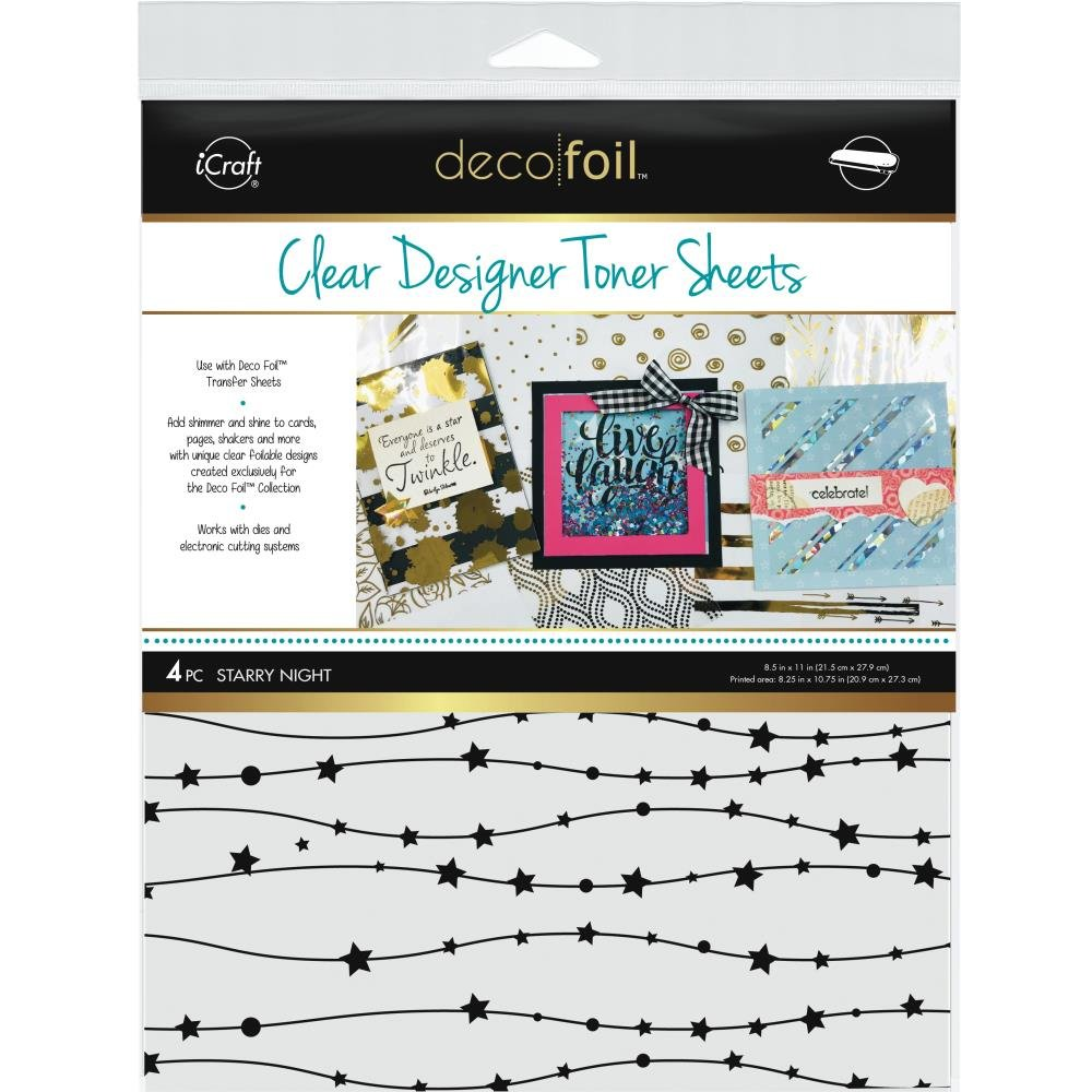 Deco Foil Clear Toner Sheets Starry Night