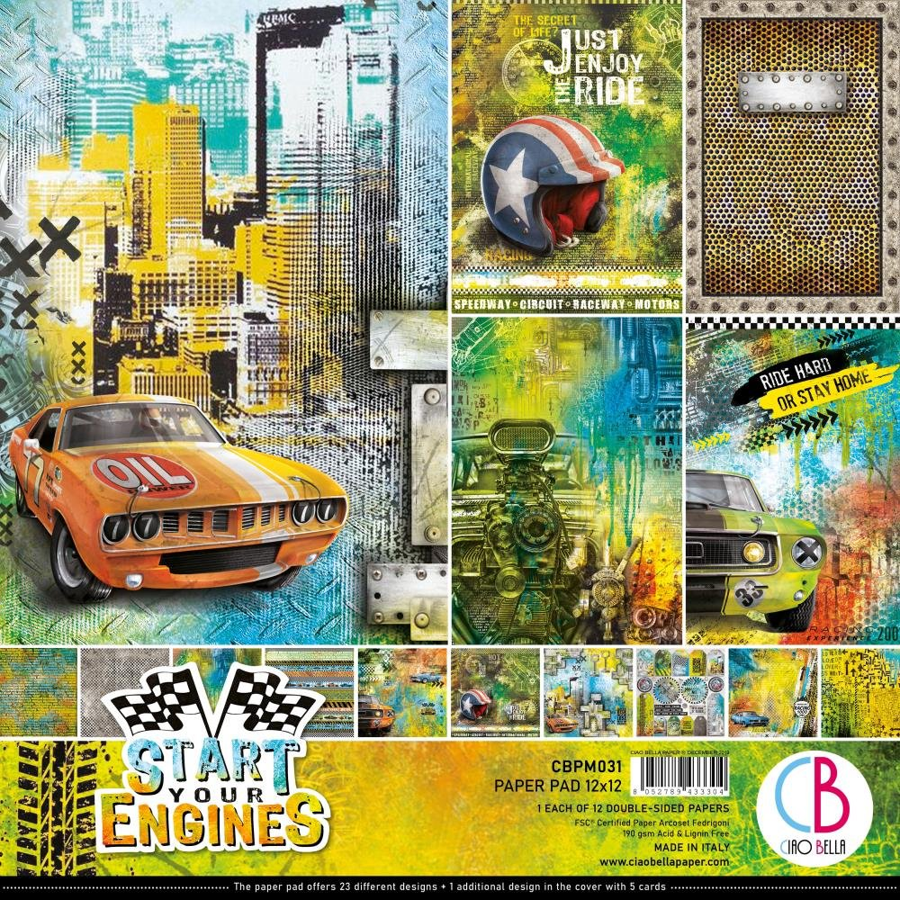 Ciao Bella Start Your Engines 12x12 Collection Kit