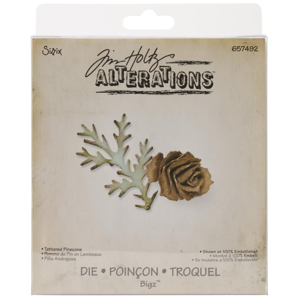 Tim Holtz for Sizzix Tattered Pinecone Die