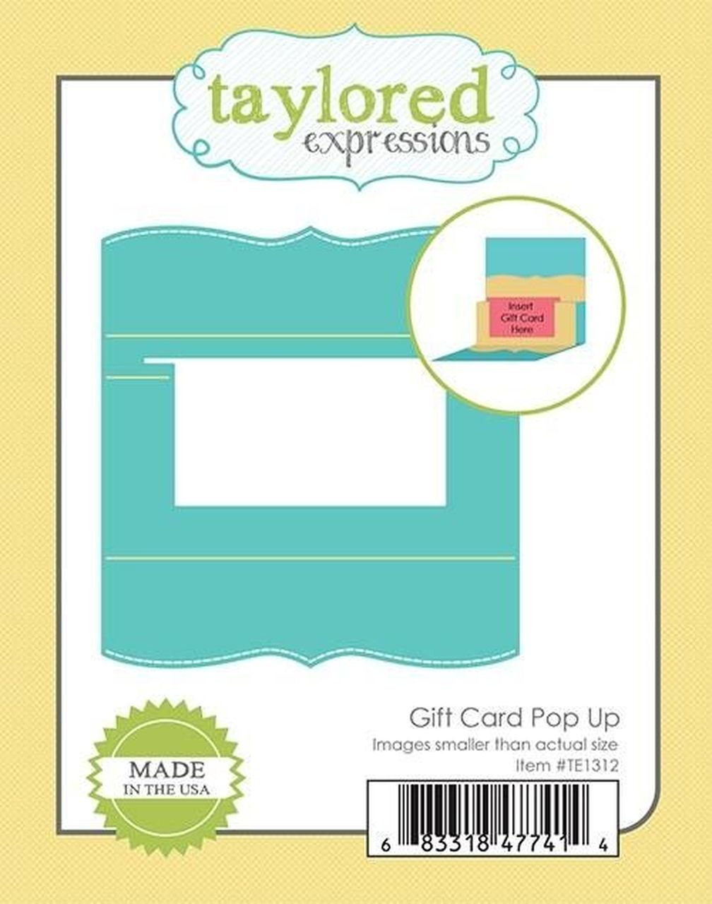 Taylored Expressions Gift Card Pop Up Die