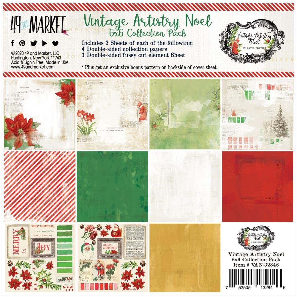 49 & Market Vintage Artistry Noel 6x6 Collection Pack