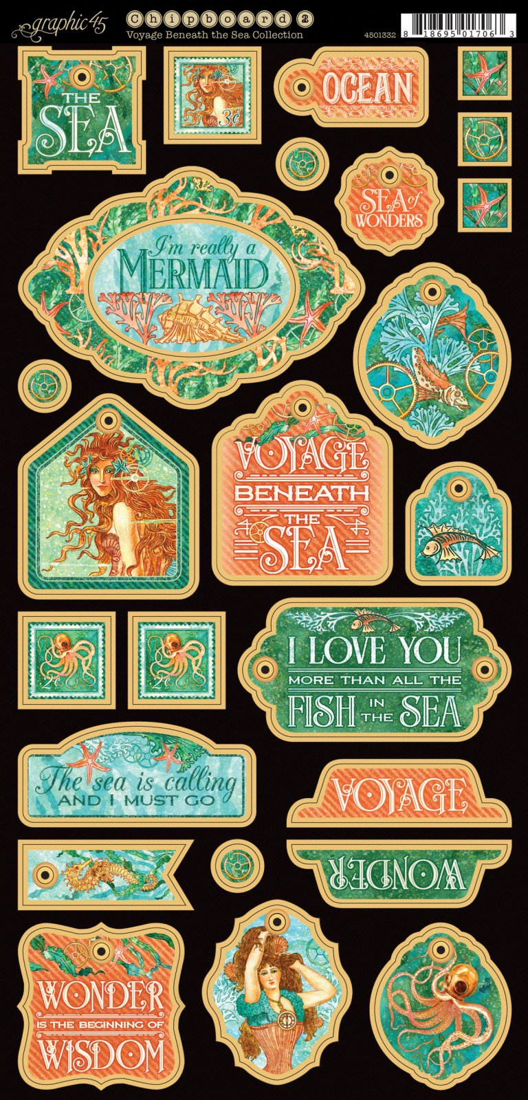 Voyage Beneath the Sea Chipboard 1