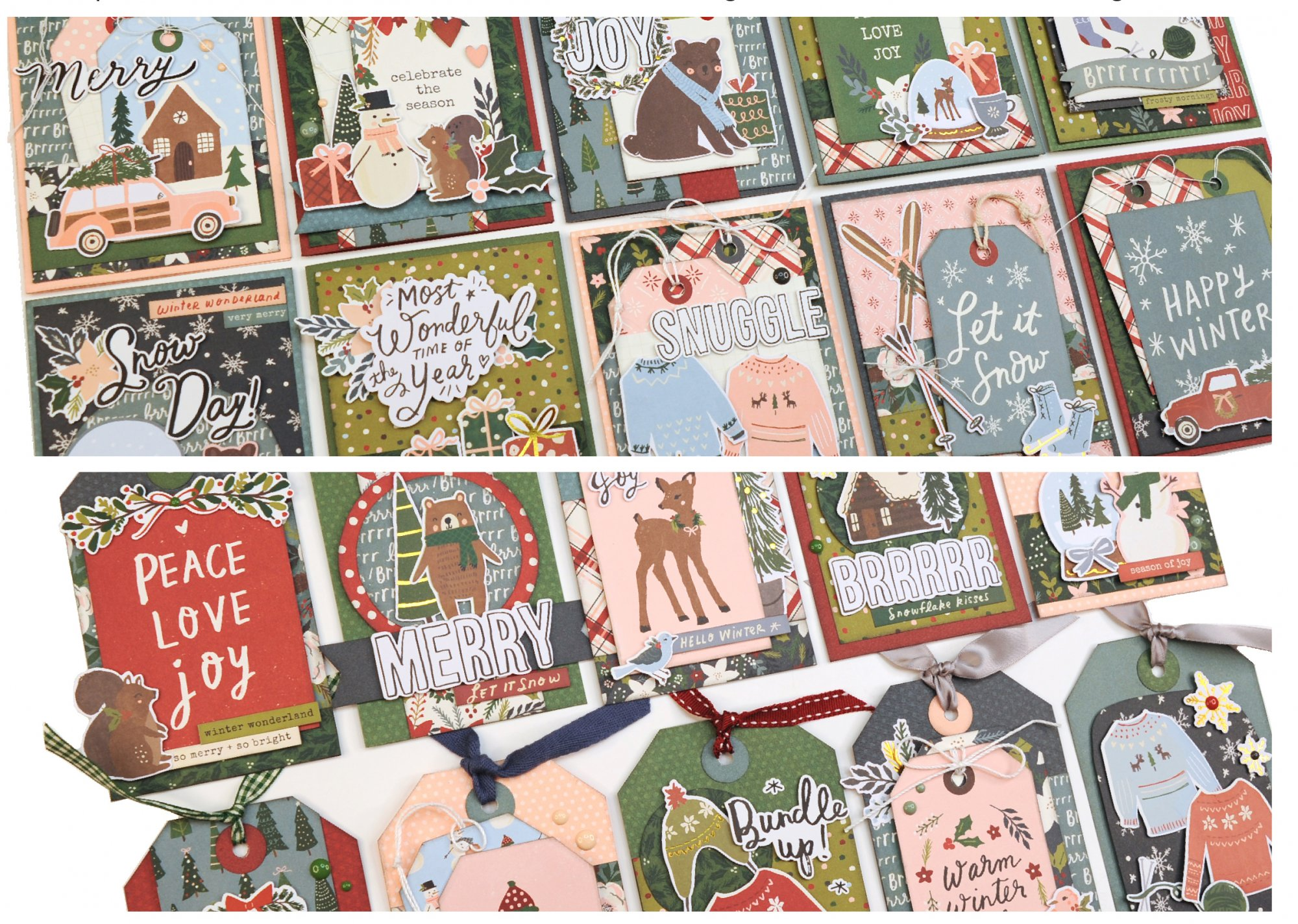 Winter Cottage Cards and Tags