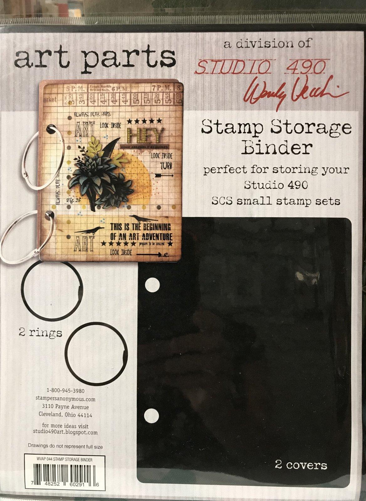 Studio 490 Art Parts Stamp Storage Binder 2 covers, 2 rings