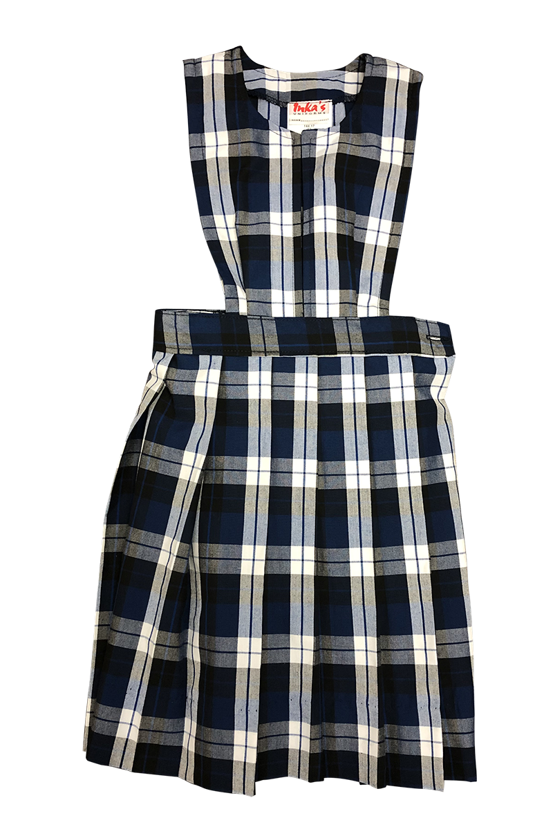 Jumper with Knife Pleat Skirt - Plaid #27