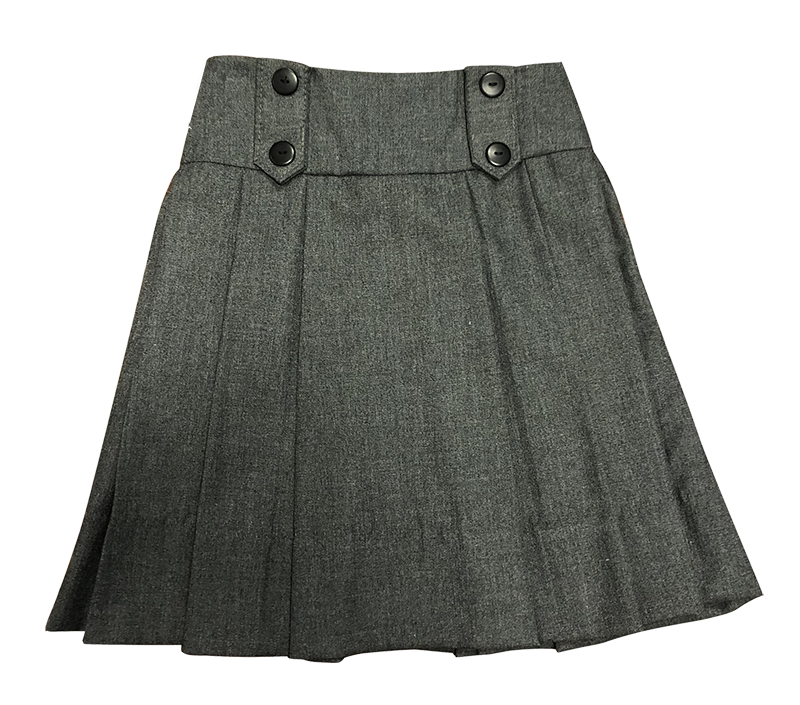 Skirt with Wide Band and Tabs - Flannel