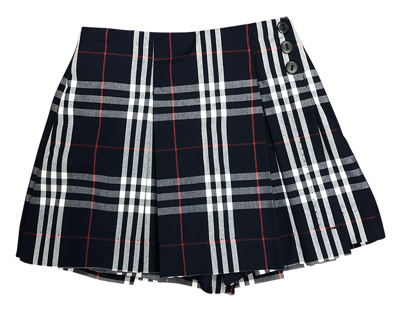 Pleated Skort - Plaid 17