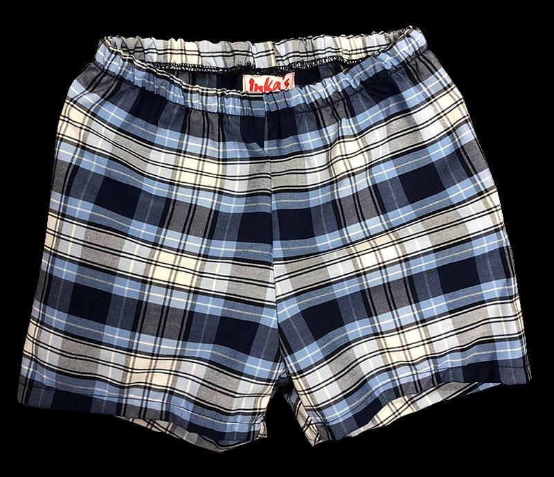 Pull-on Shorts - Plaid 23