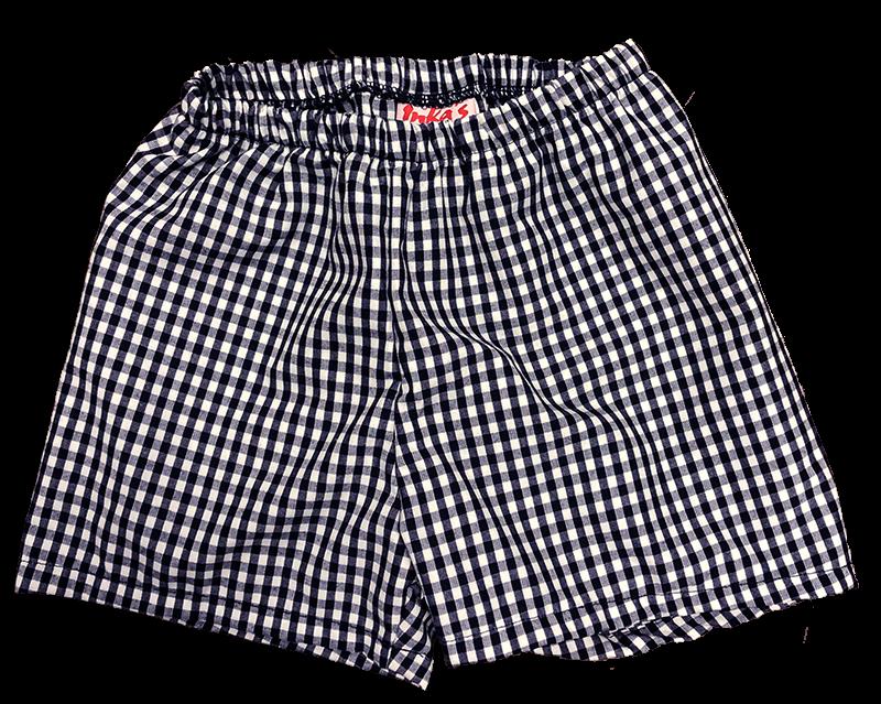 Pull-on Shorts - Plaid 35