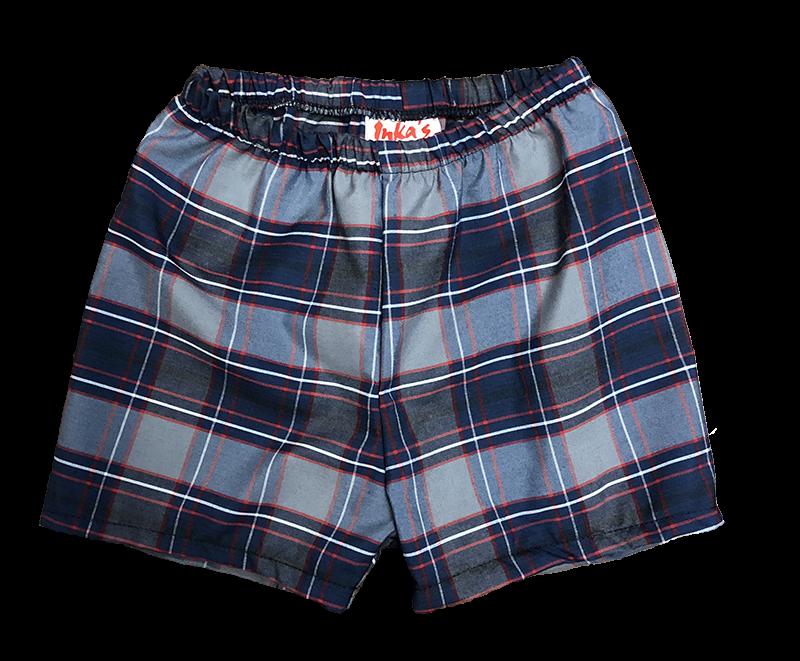 Pull-on Shorts - Plaid 45