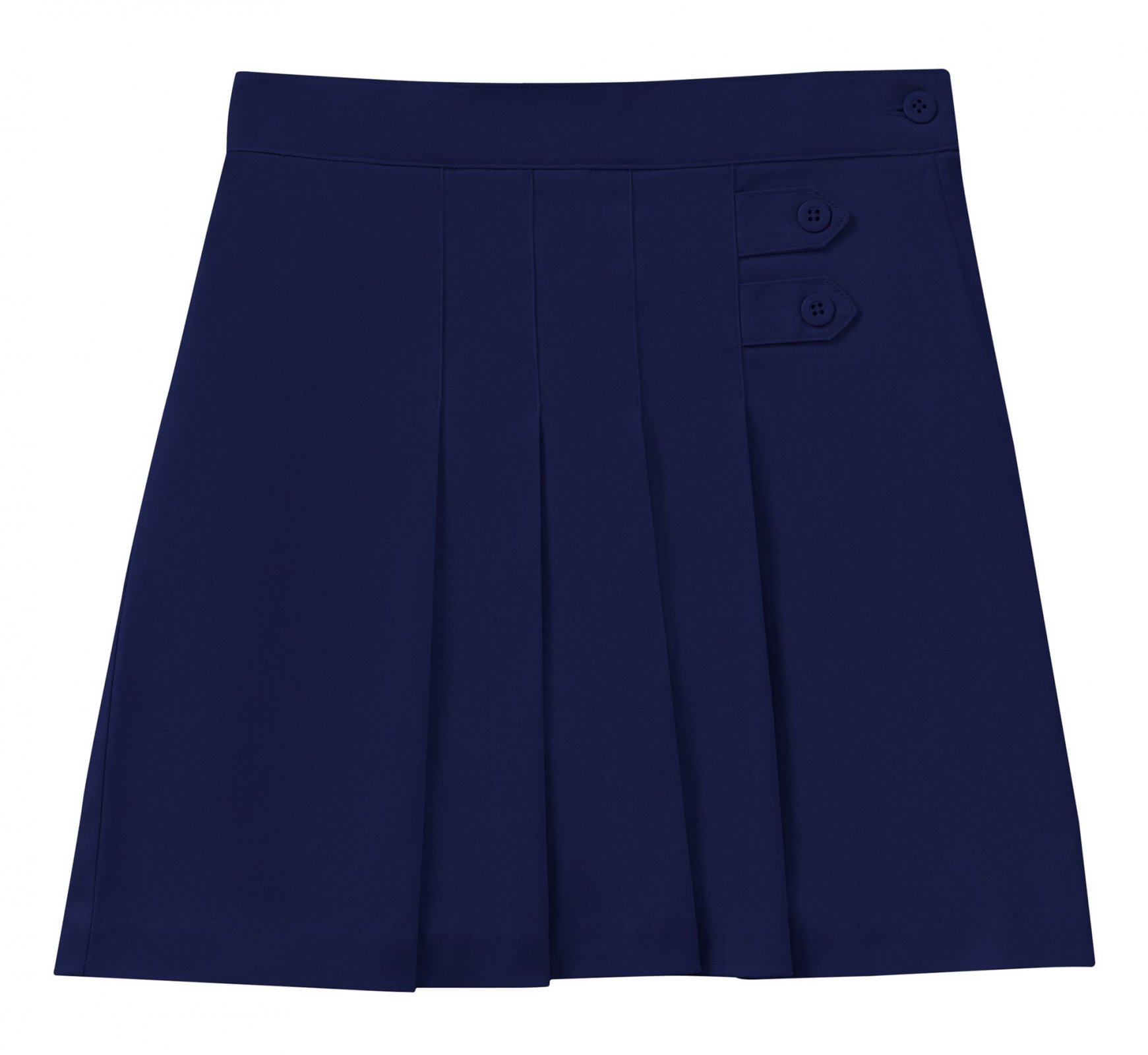 Girls Stretch Pleated Tab Scooter - Navy