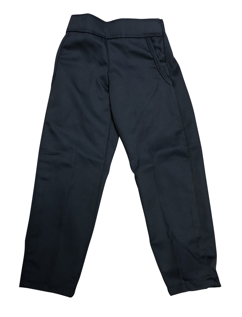 Pants - Girls Flat Front - Navy