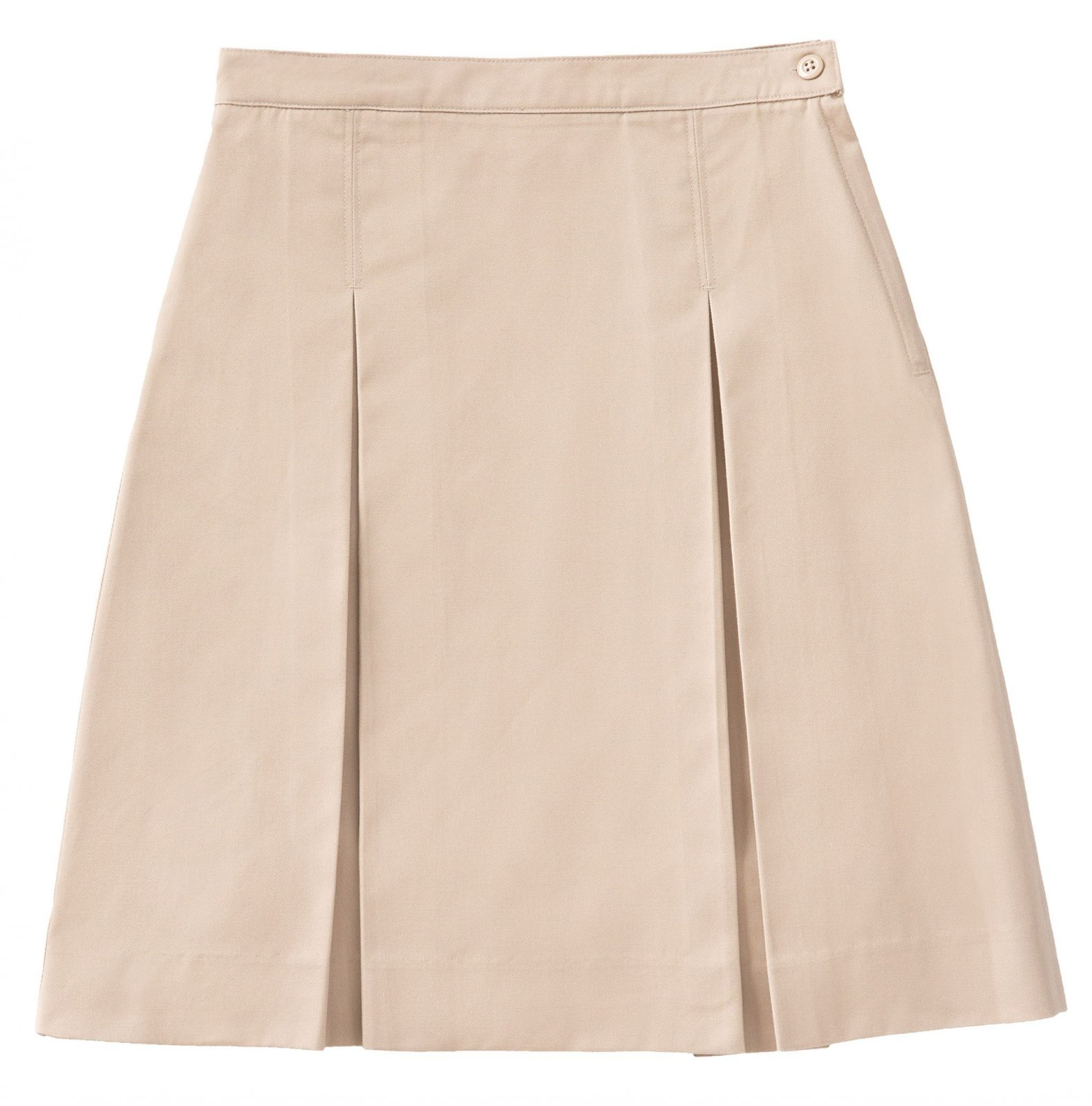 Kick Pleat Skirt - Khaki