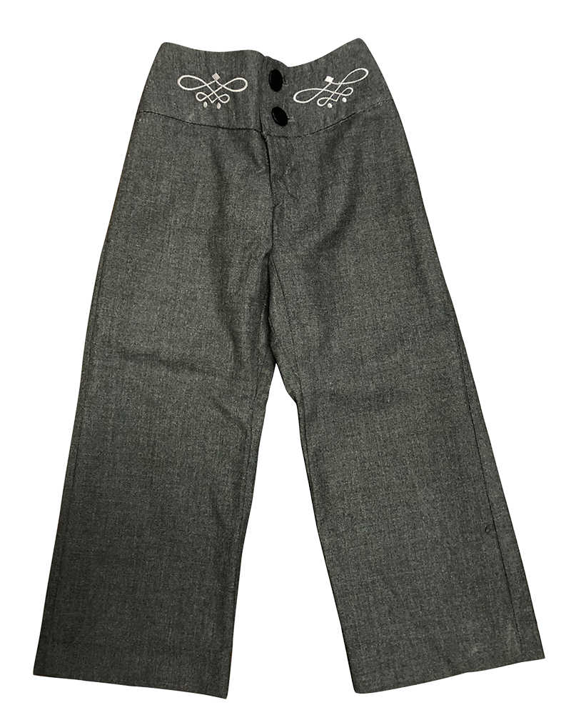 Pants - Girls Embroidered Front -  Flannel