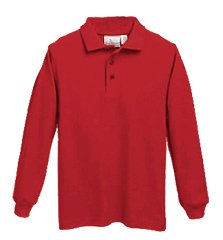 LMS Knit - Pique Long Sleeve - Red