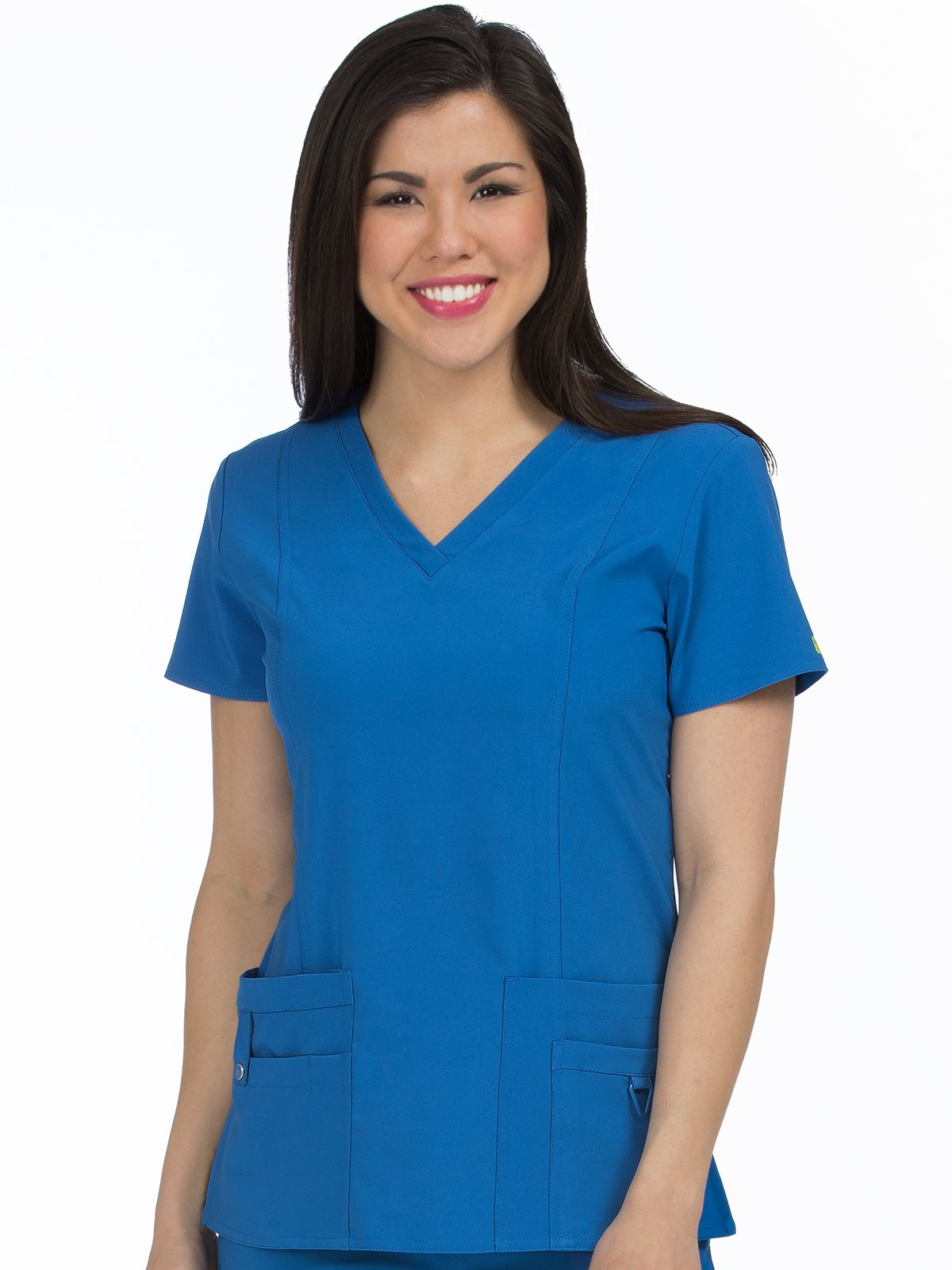 8408 V-Neck In-Motion Classic Top - Royal