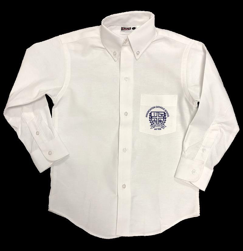 ACS Boys Long Sleeve Oxford - White