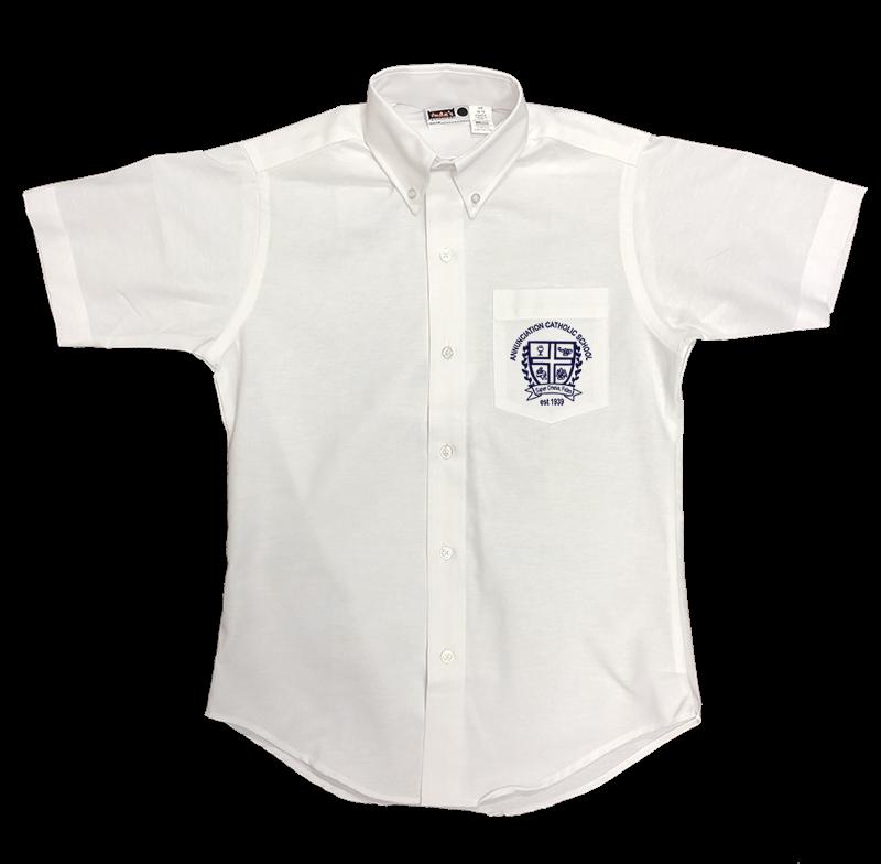 ACS Girls Short Sleeve Oxford - White
