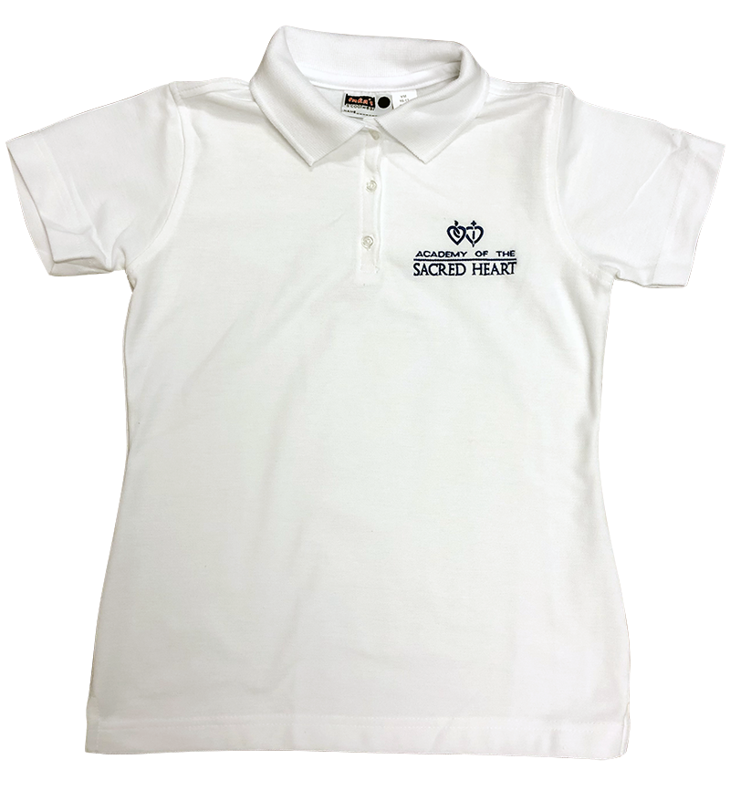 ASH Knit - Girls Fitted Pique - Short Sleeve - White
