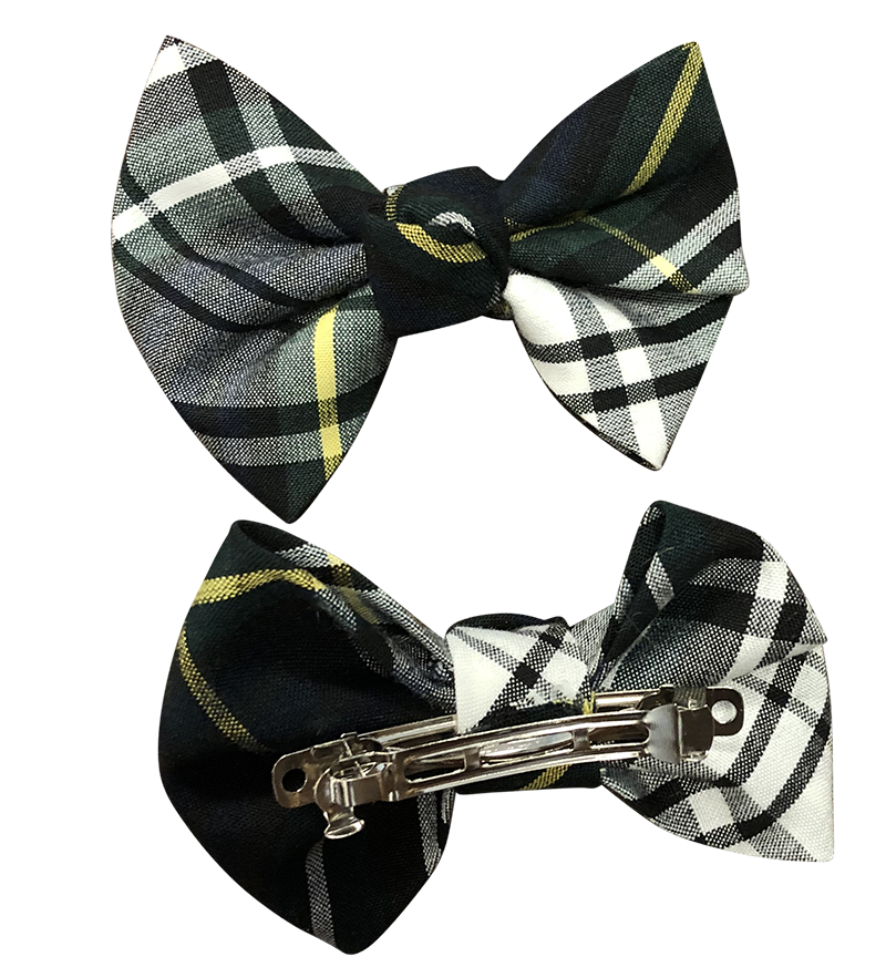 Baby Bows with Clips - Plaid 59