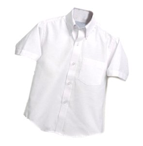 MBS Short Sleeve Boys Oxford - White