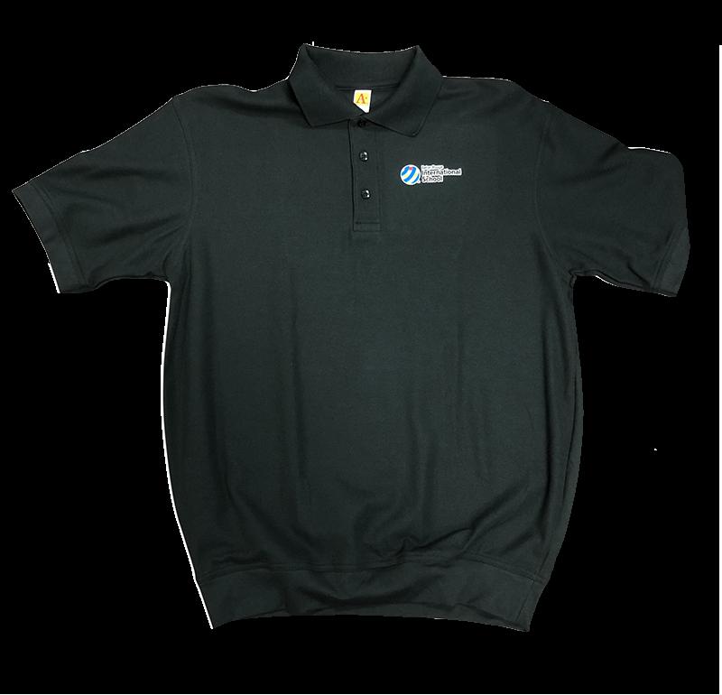 BRIS Short Sleeve Banded Bottom Pique Knit: Black