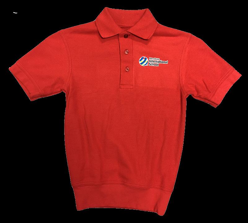 BRIS Short Sleeve Banded Bottom Pique Knit: Red