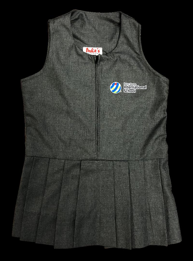 BRIS Jumper - Zipper Front - Grey Flannel