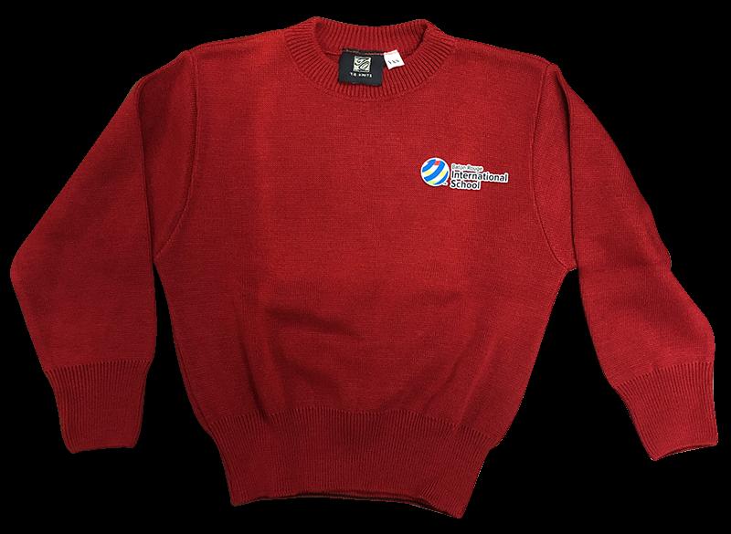 BRIS Crew Neck Sweater - Red