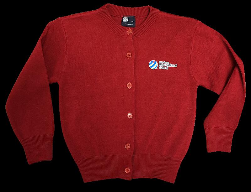 BRIS Jewel Neck Sweater - Red