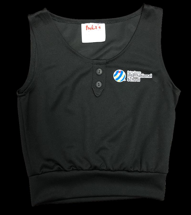 BRIS Vest w/ Placket & Buttons - Black