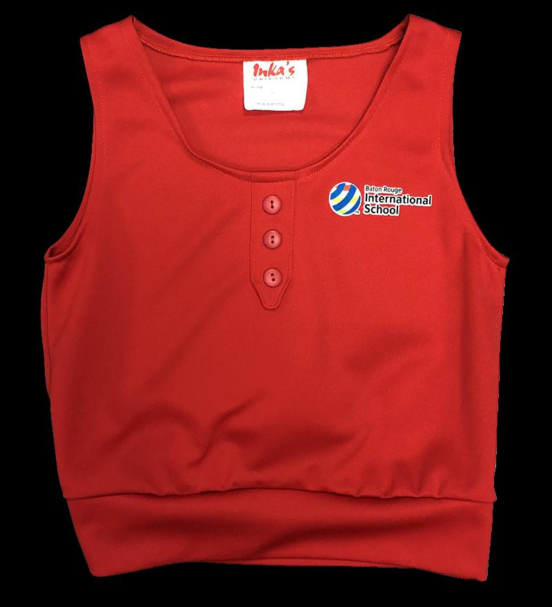 BRIS Vest w/ Placket & Buttons - Red