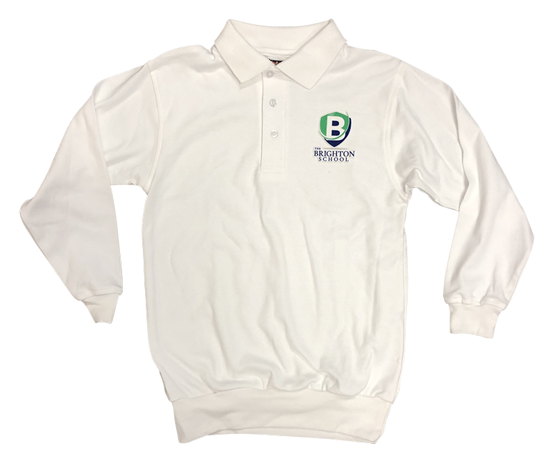 BRS Jersey Banded Bottom Long Sleeve - White
