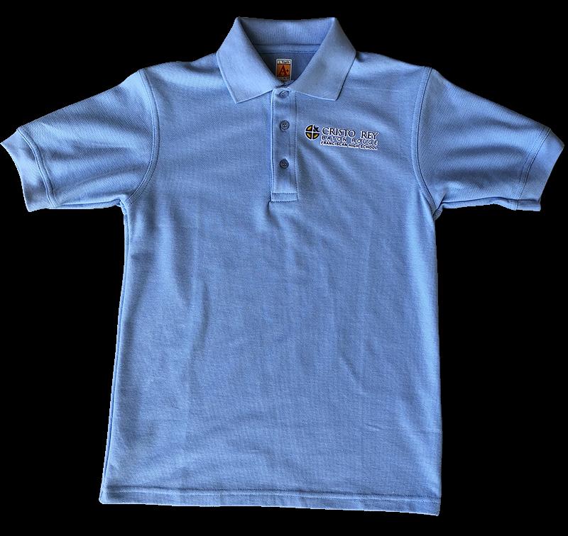 Cristo Rey Short Sleeve Pique Knit - Light Blue