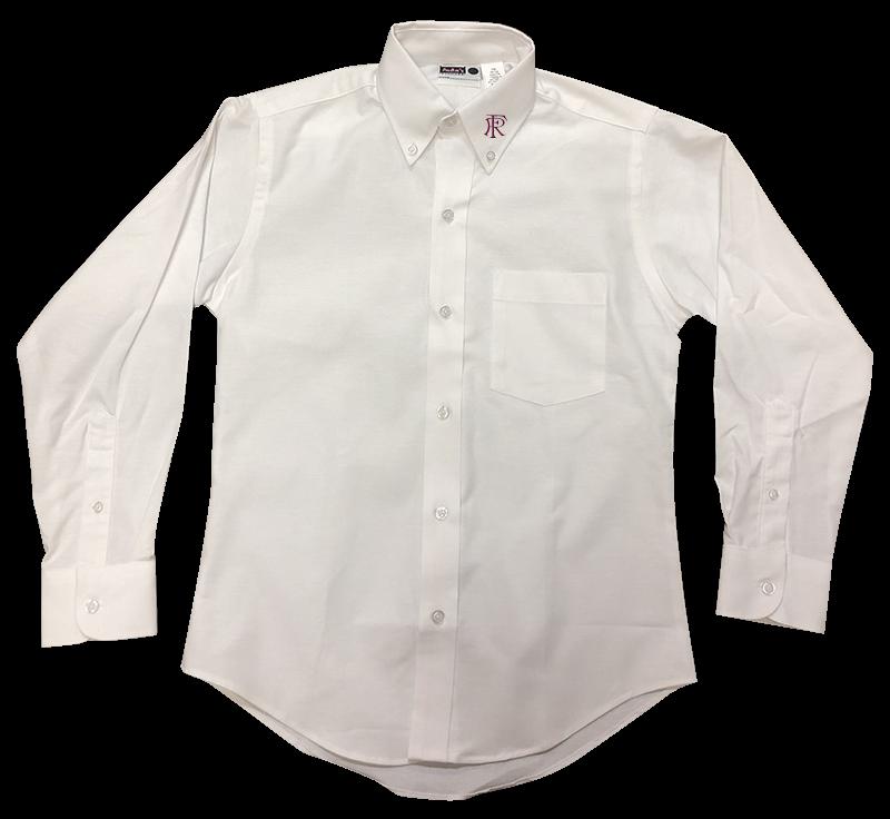 FRA Girls Long Sleeve Oxford - White