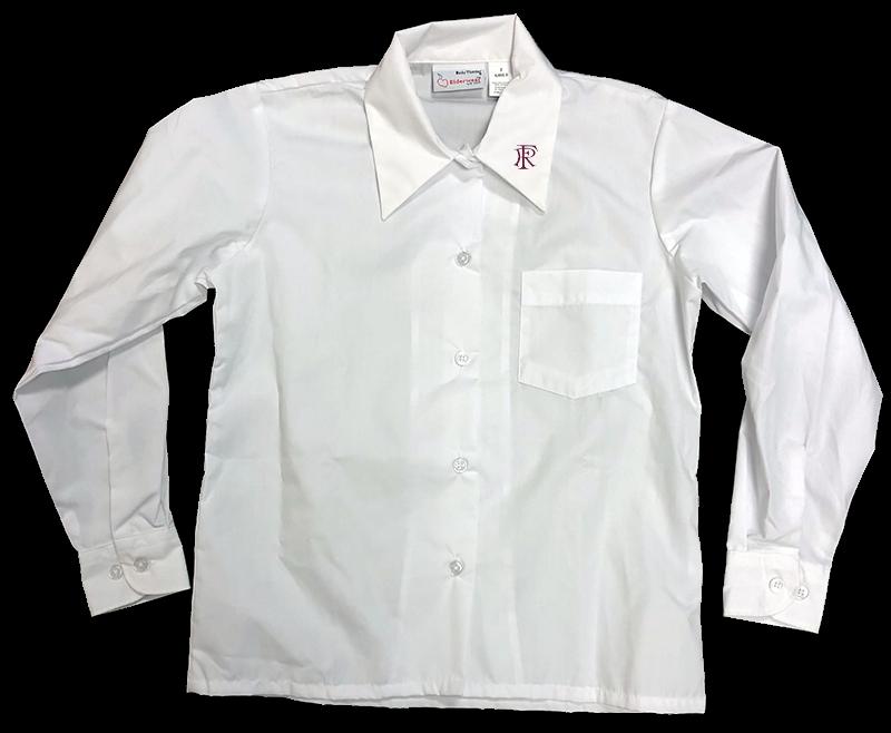 FRA L/S Sports Collar Blouse - White