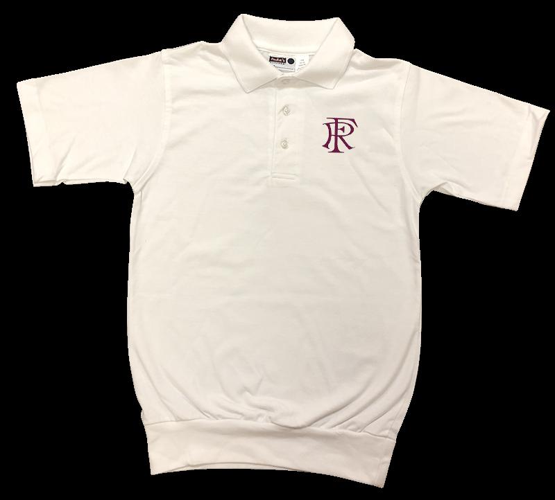 FRA Short Sleeve Banded Bottom Jersey Knit: White