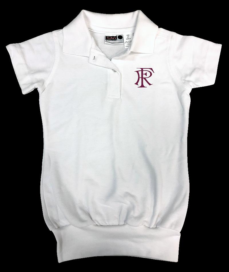 FRA Short Sleeve Banded Bottom Pique Knit: White