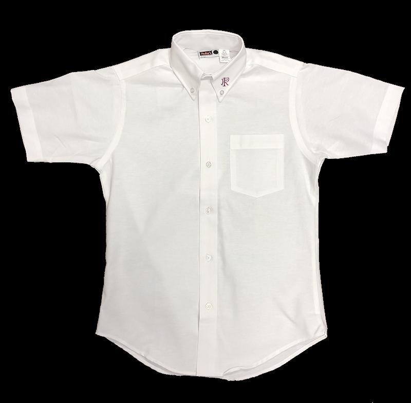 FRA Girls Short Sleeve Oxford - White