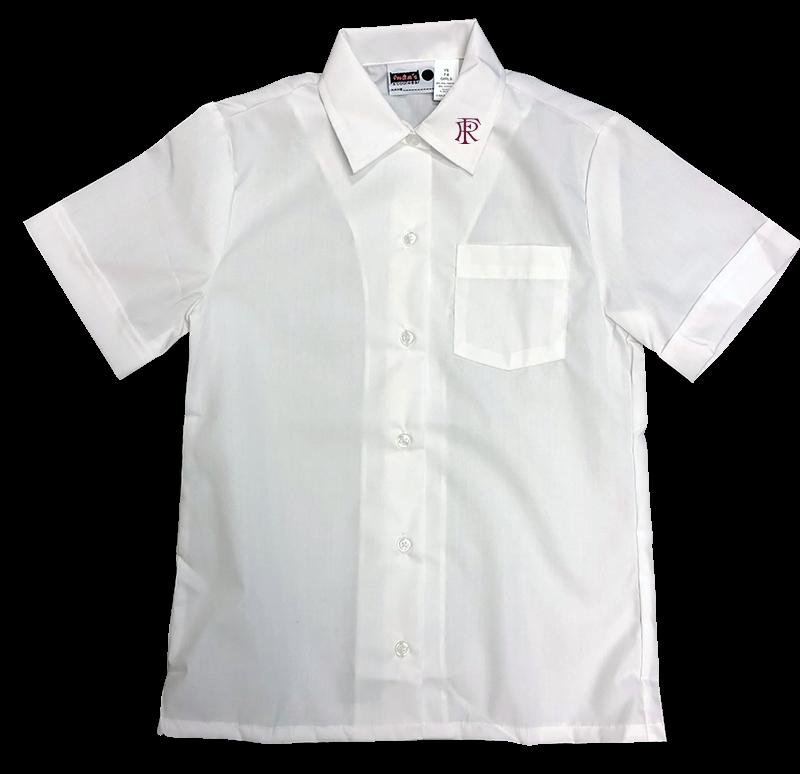FRA S/S Sports Collar Blouse - White