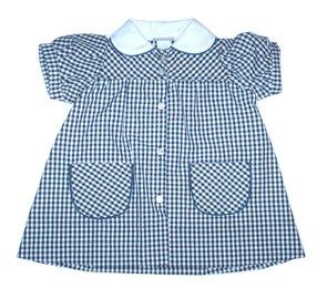 OLM Button Front Dress - Plaid 35