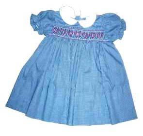 Dress - Smocked (Hearts) - Plaid 34